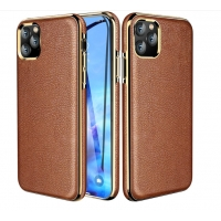 China Flip Genunine Leather 6.1 Inch Protective Iphone Cases wholesale