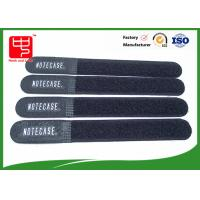 Buy cheap Black dirty resistance velcro ties , hook and loop strap For Wires Clearing Up round ending product