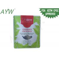 China Zip Lock Tea Packing Plastic Bag 2lb / 5lb Barrier With Customized Logo Printing on sale