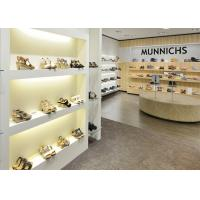 China Simple Modern Practical Shoe Display Cabinet / Store Display Fixtures 3D Design wholesale
