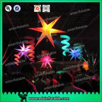 China Event Ceiling Inflatable Stage Decoration LED Star Light With 210T Polyester Cloth wholesale
