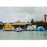 China Inflatable Cartoon Water Park / 0.9mm PVC Tarpaulin Water Aqua Park For 65 Persons wholesale