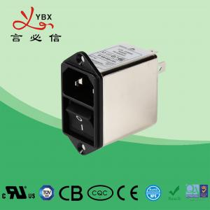China Screw 250V EMI Power Filter 21*24 Switch For Coffee Vending OEM Service wholesale