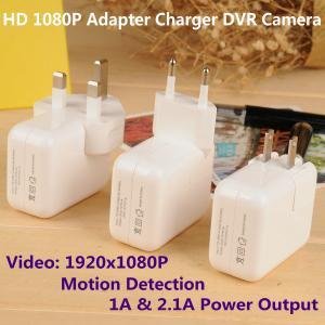 Quality 1080P Mini Adapter CCTV Surveillance DVR Spy Camera Motion Detection US/EU/UK for sale
