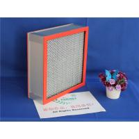 China High Temperature Resistants Hepa Panel Filter With 99.99% Fiber Glass Paper wholesale