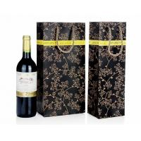 Quality Wine Bottle Gift Bags , Retail Shopping Bags For Grape Wine Packaging for sale