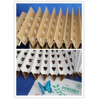 China Cardboard Spray Booth Pleated Air Filters Kraft Folding Filter Paper wholesale