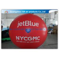 China Inflatable Big Advertising Balloons , Red Air Balloon Advertising Helium Ball wholesale