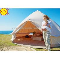 China Comfortable Outdoor Canvas Bell Tent 100% Waterproof Cotton Camping Tent wholesale