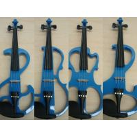 China Customized Blue Solid Wood Full Size Student Violin With Case / Bow AGV-EI wholesale