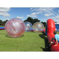 China Grass Red Cord Inflatable Zorb Ball Inflatable Human Hamster Ball 2.8m x 1.8m Dia wholesale