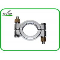 China Hygienic High Pressure Pipe Clamps With Automatically Adapt Fastening Forces wholesale
