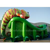 China 0.55mm PVC Tarpaulin Vivid Chameleon Inflatable Castle Slide 12m For Outdoor wholesale