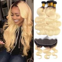 China Enropean Virgin Human Hair Extensions 13 X 6 Lace Frontal 1B / 613 Color wholesale