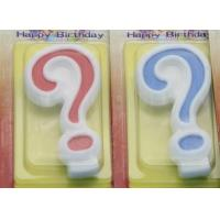 Buy cheap !Question Mark !White Egde Question Mark Shape Candles with 2 Colors Filling-in from wholesalers