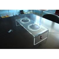 Quality Personalized 8mm Clear Acrylic Pet Bowl Stand 500 * 220 * 150mm for sale