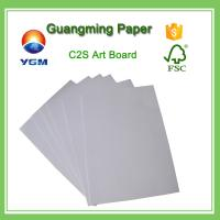 China Bulk C2S Coated Large Cardboard Sheets , Plain Cardboard Sheets For Art Projects wholesale