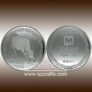 China Souvenir silver metal coin,ancient commemorative coins--shenzhen factory wholesale
