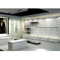 China Matte White Color Men Retail Store Display Cases Professional 3 D Design wholesale