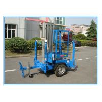 China Vertical Aluminium Alloy Truck Mounted Man Lift , Single Mast Electric Boom Lift wholesale