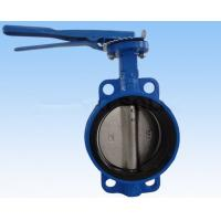 China Double Flanged Butterfly Valve , DN40 - DN600 Wafer And Lug Style Butterfly Valve  wholesale