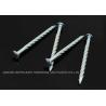 "China Needle Point Electro Galvanized Twisted Nails 4"" X BWG7 Twisted Shank Nails Resist Corrosion wholesale"