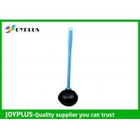 China Durable Bathroom Cleaning Accessories Black Toilet Plunger With Plastic Handle wholesale