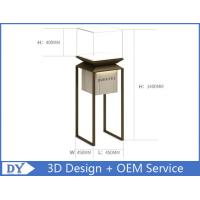 China Factory manufacturers  design museum showcase with stainless steel tempered glass led lights wholesale