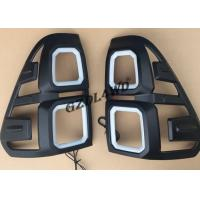 China Black 4x4 Body Kits / Car Tail Light Cover With LED For Toyota Hilux Revo Sr5 15 - 17 wholesale