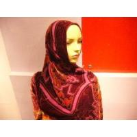 China Fashion Floral Burnt-out Silk Hijab Scarf wholesale