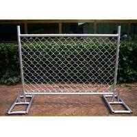 China Cross Brace Chain Link Temporary Fencing Hot Galvanized wholesale