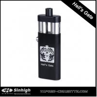 China Hells Gate Box Mod Full Mechanical Mod E Cig With Dual Atomziers Hells Gate Mod on sale
