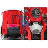 China Supersize Cattle Feed Mixer Truck , Supreme Livestock Feed Mixer With 8pcs Tyres wholesale