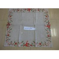 China Christmas Design Linen Hemstitch Tablecloth Beautiful For Adult Age Group wholesale