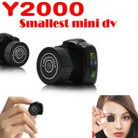 China Y2000 2MP Smallest Mini DVR Camera Spy Hidden Covert Video Recorder Camcorder PC Webcam wholesale