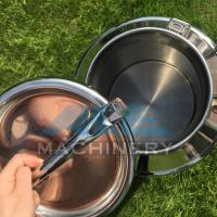 China 50L Milk Can Bucket Cow Goat Dairy Stainless Steel Milker Pail Can Decorative Mini Galvanized Milk Can wholesale