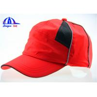 China Breathable Red High Profile Custom Running Caps with 100% Polyester Fabric wholesale