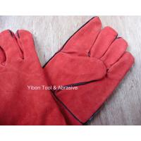 """China High quality 14"""" Red color Cow Split Welding Gloves/Safety Gloves / Working Gloves wholesale"""
