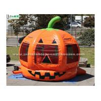China Halloween Pumpkin Inflatable Bounce Houses For Kids Party Outdoor Use wholesale
