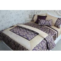 China purple applique  with  piping duvet cover polyester wholesale
