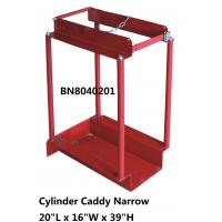 China Narrow Type Compressed Gas Cylinder Storage Racks With Chain Divider / Lockable Pin wholesale