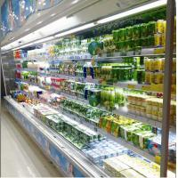 China 2m Showcase MultiDeck Open Chiller 4 Shelves With Two Sliding Doors wholesale