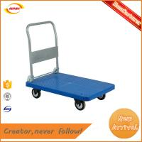 China factory direct supply stainless steel foldable luggage platform trolley with heavy duty Kunda A-058 wholesale