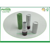 China Eco Friendly Cardboard Lipstick Tubes , Brown Paperboard Push Up Lip Balm Tubes on sale