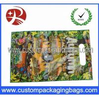 China HDPE / LDPE Die Cut Handle Plastic Polythene Bags For Gift HDB11 on sale