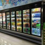 China Customize Freezer Glass Door Freezer With Copeland Compressor wholesale