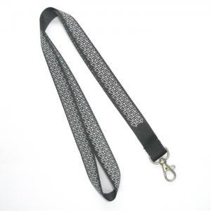 China Grey Silk Printing Nylon Lanyard With Metal Hook , Ticket Holder Lanyards on sale