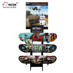 Buy cheap Custom Logo Wooden Display Racks Floor Skateboard Rack Display For Retail Store from wholesalers
