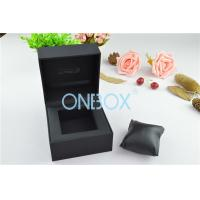 China Durable Luxury Watch Packaging With Soft Pillow Inside Top Padding wholesale