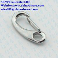 China stainless steel 40mm,50mm 70mm,100mm Spring Snap Clip Hook Eye End/egg shaped snap hook wholesale